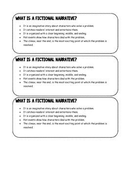 Fictional Narrative Writing