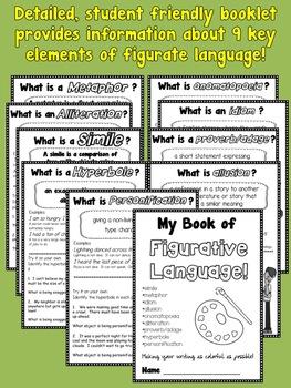 4th Grade Figurative Language Activity Bundle