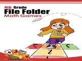 4th Grade File Folder Math Games