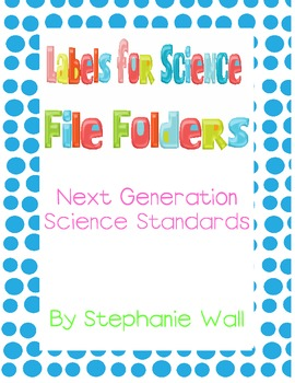 4th Grade File Folder Stickers for Next Generation Science Standards