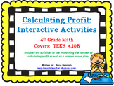 4th Grade Financial Literacy: Calculating Profit Interactive Lesson TEKS 4.10B