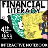 4th Grade Financial Literacy Interactive Notebook Set