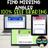 4th Grade Find Missing Angles SELF GRADING Quizzes