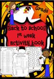 4th Grade - First week of school booklet