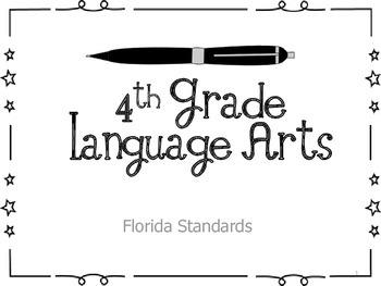 4th Grade Florida Common Core ELA Standard Posters