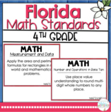 4th Grade Florida Math Standards I Can Statements