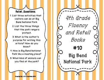 4th Grade Fluency and Retell Books - #10