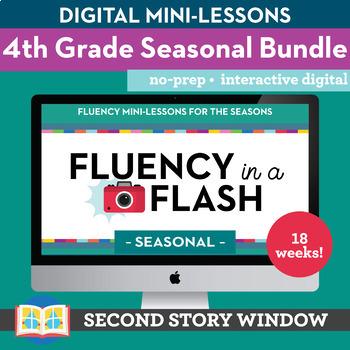 4th Grade Fluency in a Flash SEASONAL GROWING bundle • Digital Mini Lessons