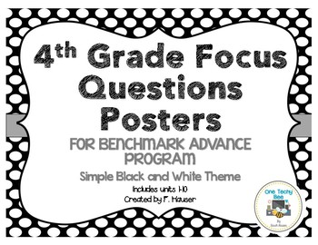 4th Grade Focus Questions for Benchmark Advance Program