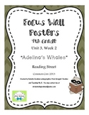 """4th Grade Focus Wall """"Adelina's Whales"""" Reading Street CC 2013"""