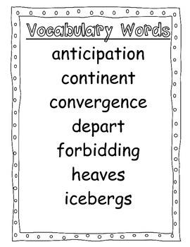 "4th Grade Focus Wall ""Antarctic Journal"" Reading Street CC 2013"