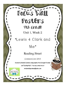 "4th Grade Focus Wall ""Lewis & Clark & Me"" Reading Street CC 2013"