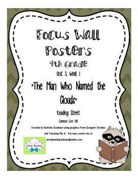 "4th Grade Focus Wall "" The Man Who Named the Clouds"" Readi"
