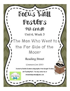 """4th Grade Focus Wall """"The Man Who Went to..."""" Reading Street CC 2013"""