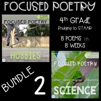 Focused Poetry 4th Grade BUNDLE: Hobbies and Science