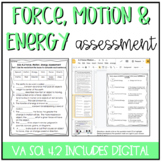 Force, Motion, Energy Assessment {Now includes GOOGLE version!}