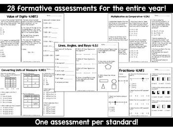 Math Tests 4th Grade