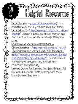 4th Grade Fountas and Pinnell Text Descriptors & Book Recommendations (Q, R, S)