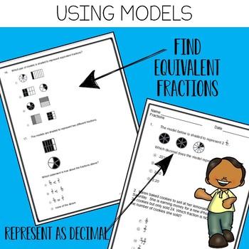 4th Grade Fractions STAAR Test Prep Practice