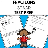 4th Grade Fraction Action Test Prep Practice