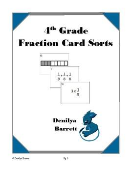 4th Grade Fraction Card Sorts