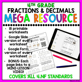 4th Grade Fractions & Decimals DISTANCE LEARNING ...
