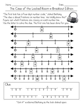 4th Grade Fraction Math Mystery (4.NF.1, 4.NF.2, & 4.NF.3)
