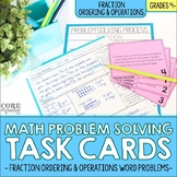 4th Grade Fraction Ordering and Operations Word Problem So
