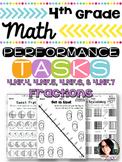 4th Grade Fraction Performance Tasks 4.NF.4, 4.NF.5, 4.NF.6, 4.NF.7