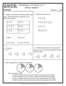 4th Grade Fraction Quiz Bundle, 14 Quizzes Cover all CCSS NF Standards!