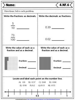 4th Grade Fraction Quizzes: 4th Grade Math Quizzes, Fraction Quiz