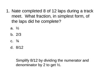 4th Grade Fraction Review (Topic 13)