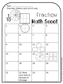 4th Grade Fraction Scoot!