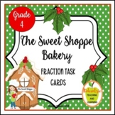 4th Grade Christmas Fraction Task Cards - The Sweet Shoppe Bakery