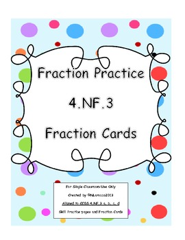 th grade fraction worksheets and center cards common core nf  originaljpg