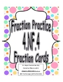 4th Grade Fraction Worksheets and Center Cards Common Core 4.NF.4 a, b, and c