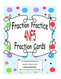 4th Grade Fraction Worksheets and Center Cards Common Core 4.NF.5