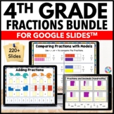 4th Grade Fractions and Decimals Google Classroom Math Bundle