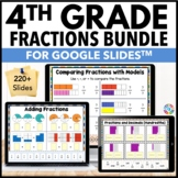 4th Grade Fractions and Decimals Google Classroom Math Bundle