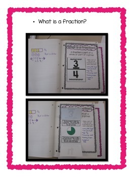 4th Grade  Fractions & Decimals Common Core Notebook