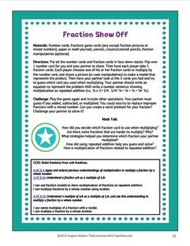 Fractions & Decimals 4th Grade: 14 math games for CCSS