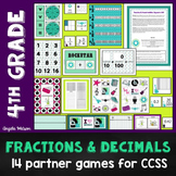 Fractions & Decimals 4th Grade: 14 math games for CCSS