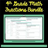4th Grade Math Fractions and Decimals Google Form Assessment Bundle