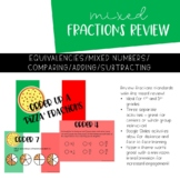 4th Grade Fractions Review for Equivalent Fractions and Ad