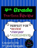 4th Grade Fractions Review or Test
