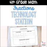 4th Grade Digital Fractions Activities for Technology Station