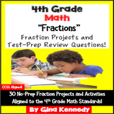 4th Grade Fractions Practice,30 Enrichment Projects & 30 Test-Prep Questions