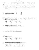 4th Grade Fractions Unit Test