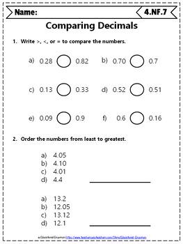 4th Grade Fractions Worksheets: 4th Grade Math Worksheets, Fractions