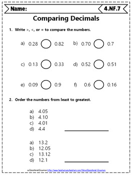 4th Grade Fractions Worksheets: 4th Grade Math Worksheets ...
